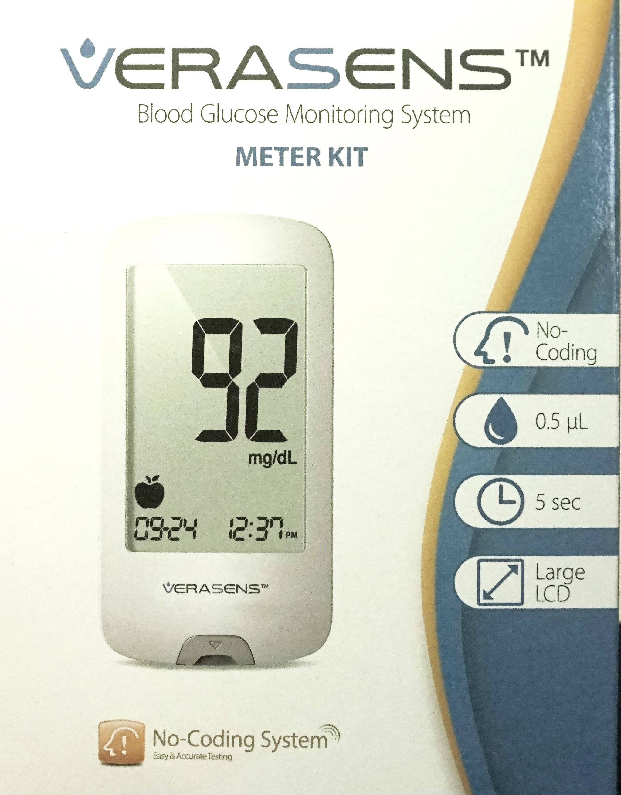 Verasens Blood Glucose Meter Kit
